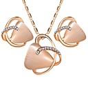זול סט תכשיטים-בגדי ריקוד נשים אופאל אופל סינתטי סט תכשיטים - לשם פשוט, מתוק לִכלוֹל זהב עבור Party יומי / עגילים