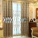 preiswerte Schuhe für Zeitgenössischen Tanz-Vorhänge drapiert Wohnzimmer Solide / Blumen Baumwolle / Polyester Stickerei