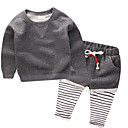 cheap Boys' Clothing Sets-Boys' Solid Colored Cotton Clothing Set