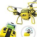 tanie Building Blocks-RC Dron HASAKEE H1 4 kanały Oś 6 2,4G Z kamerą HD 0.3MP 480P Zdalnie sterowany quadrocopter FPV / Tryb Healsess / Możliwośc Wykonania Obrotu O 360 Stopni Zdalnie Sterowany Quadrocopter / Aparatura