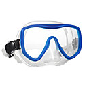 cheap Anime Cosplay Swords-WAVE Snorkel Mask Swim Mask Goggle Water Resistant / Waterproof Anti Fog Two-Window - Swimming Diving Silicon Rubber Tempered Glass - for Adults Black Red Blue