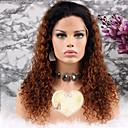 olcso Emberi hajból készült parókák-Remy haj Paróka Brazil haj Göndör Réteges frizura 130% Sűrűség Baba hajjal Barna Rövid Hosszú Közepes hosszúságú Női Emberi hajból