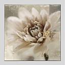tanie Obrazy olejne-Hang-Malowane obraz olejny Ręcznie malowane - Kwiatowy/Roślinny Nowoczesny