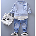 ieftine Pantaloni Fete & Leginși-Copii Unisex Geometric Manșon Lung Set Îmbrăcăminte