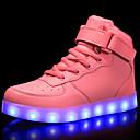 tanie Obuwie dziewczęce-Dla chłopców / Dla dziewczynek Obuwie Materiał do wyboru / Derma / PU Wiosna / Jesień Wygoda / Świecące buty Adidasy Spacery Sznurowane / Haczyk i pętelka / LED na Czerwony / Niebieski / Różowy