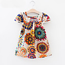 זול שמלות לבנות-שמלה כותנה אביב קיץ שרוולים קצרים יומי חגים פרחוני הילדה של וינטאג' פעיל לבן