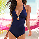 cheap Nail Files & Buffers-Women's Bandeau One-piece - Solid Colored Thong
