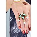 preiswerte Moderinge-Statement-Ring - Künstliche Perle, Aleación Tropfen Grundlegend, Modisch 7 Grün / Rosa Für Alltag Verabredung