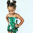 tanie Sukienki dla niemowląt-Dziecko Dla dziewczynek Aktywny Święto Kwiaty Bez rękawów Bawełna Jednoczęściowe / Brzdąc