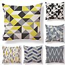 cheap Pendant Lights-6 pcs Textile Cotton/Linen Pillow case Pillow Cover, Lines / Waves Grid/Plaid Patterns Contemporary Geometric High Quality