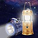 abordables Accesorios de Iluminación-LED Solar Powered Collapsible Flashlights Linternas y Lámparas de Camping LED 1 Modo de Iluminación con cable USB Portátil / Plegable
