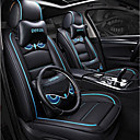 זול משענת ראש לרכב-ODEER כיסויי למושבים לרכב משענת ראש & ערכות מותן כרית שחור / כחול עור PU סרט מצוייר for אוניברסלי כל השנים כל הדגמים