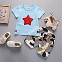 זול תיקי יד-סט של בגדים כותנה שרוולים קצרים דפוס גיאומטרי / דפוס בית הספר פעיל בנים פעוטות / חמוד