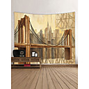 cheap Wallpaper-Architecture Abstract Wall Decor 100% Polyester Contemporary Modern Wall Art, Wall Tapestries Decoration