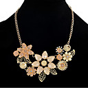 cheap Necklaces-Women's Statement Necklace - Resin, Rhinestone Flower, Flower Shape Statement, Vintage, Party Pink 45 cm Necklace For Date, Vacation