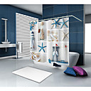preiswerte Duschvorhänge-Duschvorhänge & Ringe Moderne Modern Polyester Neuheit Maschinell gefertigt Wasserfest Bad