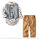 tanie Zestawy ubrań dla dziewczynek-Brzdąc Dla chłopców Święto Geometric Shape Długi rękaw Bawełna Komplet odzieży