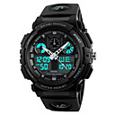 cheap Sport Watches-SKMEI Men's Digital Sport Watch Japanese Water Resistant / Water Proof Stopwatch PU Band Cool Black