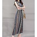 זול ללא מכסה-מקסי גיאומטרי - שמלה גזרת A רזה בגדי ריקוד נשים / קיץ