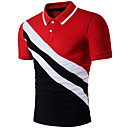 tanie Zestawy ubrań dla dziewczynek-Polo Męskie Aktywny, Patchwork Kołnierzyk koszuli Szczupła - Kolorowy blok / Krótki rękaw