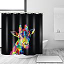 olcso Zuhanyfüggönyök-Shower Curtains & Hooks Kortárs Modern Poliészter Egyszínű Állat Géppel készített Vízálló Fürdőszoba