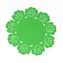 tanie Podkładki stołowe-Współczesny Plastikowy Zaokrąglanie Podkładki Jendolity kolor / Kwiaty Dekoracje stołowe 1 pcs