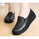 cheap Women's Slip-Ons & Loafers-Women's Shoes Leather Spring / Fall Comfort Loafers & Slip-Ons Flat Heel Black