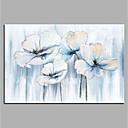 levne Krajiny-Hang-malované olejomalba Ručně malované - Abstraktní Květinový / Botanický motiv Moderní Bez vnitřní rám / Válcované plátno