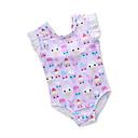 cheap Girls' Clothing Sets-Toddler Girls' Active Daily / Beach Print / Fruit Backless / Ruffle / Print Sleeveless Cotton / Polyester Swimwear Purple / Cute
