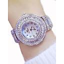 povoljno iPhone maske-Žene Luxury Watches Sat uz haljinu Diamond Watch Japanski Kvarc Nehrđajući čelik Zlatna 50 m Kronograf Svjetleći Velika kazaljka Analog dame Luksuz Svjetlucavo Bling Bling - Zlato Pink Rose Gold