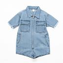 ieftine Pantaloni Băieți-Copil Băieți De Bază Mată Manșon scurt Set Îmbrăcăminte
