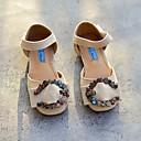 זול נעלי ילדות-בנות נעליים דמוי עור קיץ נוחות / נעליים לילדת הפרחים שטוחות ל שחור / בז' / כחול