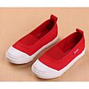 tanie Obuwie dziewczęce-Dla dziewczynek Obuwie Płótno Wiosna / Jesień Wygoda Mokasyny i pantofle na Biały / Czerwony / Różowy
