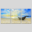 cheap Landscape Paintings-Print Stretched Canvas - Landscape Modern Three Panels