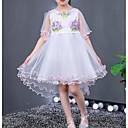 זול שמלות לבנות-שמלה כותנה פוליאסטר קיץ ללא שרוולים יומי חגים דפוס הילדה של חמוד פעיל ורוד מסמיק סגול