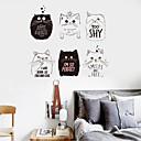 ieftine Acțibilde de Perete-Autocolante de Perete Decorative - Animal Stickers de perete Animale Sufragerie Dormitor Baie Bucătărie Cameră de studiu / Birou