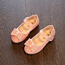 olcso Kislány cipők-Lány Cipő PU Tavasz / Ősz Kényelmes / Virágoslány cipők Lapos mert Fehér / Sötétkék / Rózsaszín