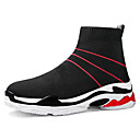 cheap Women's Boots-Women's Shoes Knit Spring / Summer Comfort Sneakers Flat Heel Black / Black / Red