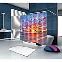 preiswerte Duschvorhänge-Duschvorhänge & Ringe Freizeit Mediterran Polyester Zeitgenössisch Neuheit Maschinell gefertigt Wasserfest Bad