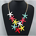 cheap Necklaces-Bib Statement Necklace - Star Colorful, Steampunk Rainbow 50 cm Necklace Jewelry For Evening Party, Club