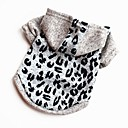 cheap Pet Christmas Costumes-Dogs / Cats / Pets Sweatshirt / Vest Dog Clothes Patterned / Character / Quotes & Sayings Leopard Cotton Costume For Pets Male Casual /