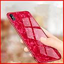 ieftine Cazuri telefon & Protectoare Ecran-Maska Pentru Apple iPhone X / iPhone 8 Oglindă / Embosat Capac Spate Model Geometric Greu Sticlă Temperată pentru iPhone X / iPhone 8