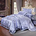 halpa Luxury pussilakanat-Pussilakanasetti setit Ylellisyys Silk / Cotton Blend Jakardi 4 osainenBedding Sets / 500 / 4kpl (1 päiväpeite, 1 lakana, 2 tyynyliinaa)