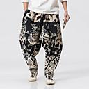 cheap Men's Slip-ons & Loafers-Men's Linen Loose Wide Leg Pants - Geometric / Weekend
