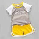 ieftine Pantaloni Bebeluși-Bebelus Unisex Bloc Culoare Manșon scurt Set Îmbrăcăminte