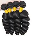 baratos Roupas para Cães-4 pacotes Cabelo Peruviano Ondulado 8A Cabelo Humano Cabelo Humano Ondulado Extensões de Cabelo Natural Côr Natural Tramas de cabelo humano Melhor qualidade Nova chegada Para Mulheres Negras