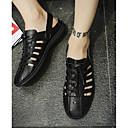 tanie Adidasy męskie-Męskie Komfortowe buty PU Lato Sandały Biały / Czarny / Na zewnątrz