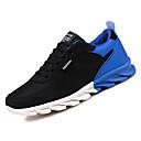 זול נעלי ספורט לגברים-בגדי ריקוד גברים טול / PU סתיו נוחות נעלי אתלטיקה ריצה קולור בלוק שחור לבן / שחור אדום / שחור / כחול