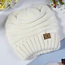 hesapli Moda Saatler-Unisex Actif Kıvırılan Şapka Solid / Sonbahar / Kış