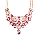 cheap Necklaces-Cubic Zirconia Statement Necklace - Oversized Pink 50+8.3 cm Necklace Jewelry For Party / Evening, Club